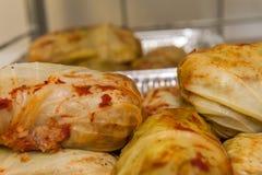 被充塞的圆白菜肉 免版税库存照片
