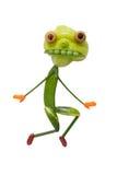 滑稽的妖怪由绿色菜做成 免版税库存图片