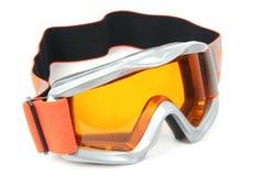 зрелища катания на лыжах лыжи изумлённого взгляда Стоковое Изображение