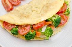 Υγιής ομελέτα με τα λαχανικά Στοκ Φωτογραφία