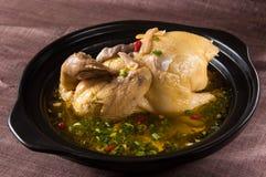 鸡中国食物餐馆汤 免版税库存照片