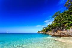 自由海滩,普吉岛,泰国 免版税库存照片