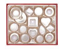 空配件箱的糖果 免版税图库摄影
