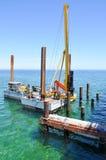 印度洋打桩机:建筑 免版税库存图片