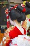 日本艺妓脖子细节 库存图片
