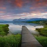湖挪威 库存照片