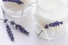 Стеклянные свечи Стоковое Фото