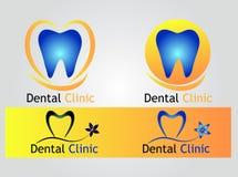 Зубоврачебный логотип клиники Стоковое фото RF