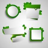 Πράσινο στοιχείο σχεδίου ετικεττών δεικτών πλαισίων άνοιξη Στοκ Φωτογραφίες