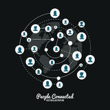 Дизайн соединенный людьми Стоковые Изображения RF