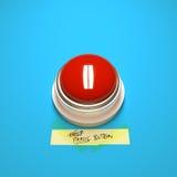 Κουμπί πανικού Στοκ φωτογραφία με δικαίωμα ελεύθερης χρήσης