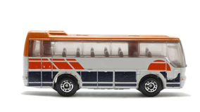 公共汽车查出的玩具 免版税库存照片