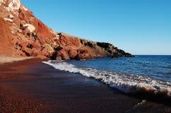красный цвет пляжа Стоковая Фотография RF