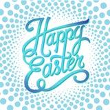 愉快的复活节印刷背景,手字法,辐形图表海报 免版税图库摄影