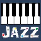 爵士乐琴键 库存图片