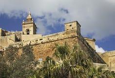保佑的圣母玛丽亚的做法大教堂在维多利亚 戈佐岛海岛 马耳他 库存照片