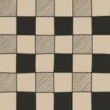 Συρμένο χέρι αφηρημένο σχέδιο σκακιερών Στοκ Εικόνα