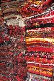 被折叠的地毯 免版税库存照片