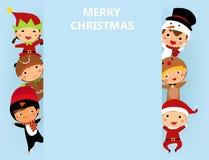 Αγόρια και κορίτσια Χριστουγέννων Στοκ Εικόνα