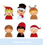 Αγόρια και κορίτσια Χριστουγέννων Στοκ Εικόνες