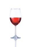 Το γυαλί αυξήθηκε κρασί που απομονώθηκε στο λευκό Στοκ εικόνα με δικαίωμα ελεύθερης χρήσης