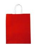 袋子红色购物 免版税库存图片