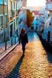 Городок Лиссабона старый, Португалия Стоковая Фотография