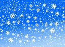χιόνι ανασκόπησης Στοκ Εικόνα
