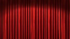 κόκκινο θέατρο κουρτινών Στοκ εικόνα με δικαίωμα ελεύθερης χρήσης
