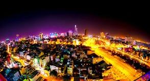 Ο ορίζοντας της πόλης Χο Τσι Μινχ Στοκ εικόνα με δικαίωμα ελεύθερης χρήσης