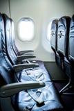 Εσωτερικά καθίσματα αεροπλάνων Στοκ φωτογραφία με δικαίωμα ελεύθερης χρήσης