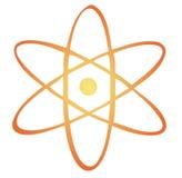 знак атома Стоковые Изображения