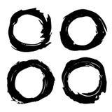 黑油漆冲程框架 免版税图库摄影