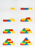 建立顺序的块 库存图片