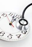 Стетоскоп и часы Стоковые Изображения RF