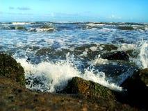 加尔维斯顿海浪 库存图片