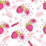 άνευ ραφής φράουλες προτύ Στοκ εικόνα με δικαίωμα ελεύθερης χρήσης