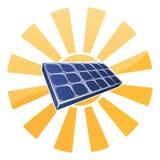 太阳电池板和太阳概念 免版税库存图片