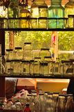 各种各样的空的瓶 免版税库存图片