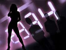 Άνδρες και γυναίκες τη νύχτα Στοκ Εικόνες