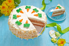 морковь торта вкусная Стоковые Изображения