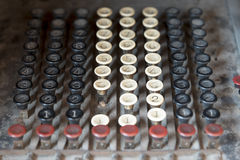 Ретро кнопки кнопочной панели банкомата Стоковое Изображение
