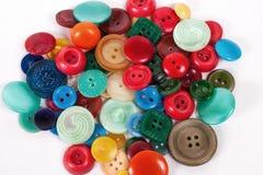 色的按钮 免版税库存图片
