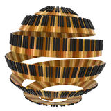 球状形状的琴键设计 库存图片