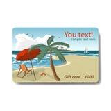 夏天销售折扣礼品券 旅行的品牌设计 免版税库存照片