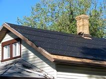 在屋顶的焦油纸 库存照片