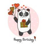 逗人喜爱的乐趣熊猫 免版税库存照片