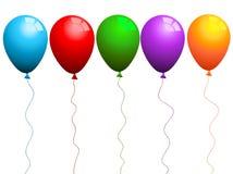 色的气球 免版税库存照片