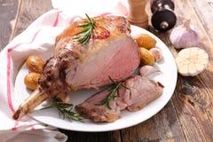 烤的羊羔行程 免版税图库摄影
