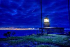 Маяк на заходе солнца Стоковые Фото